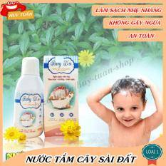 Nước tắm thảo dược cây sài đất cho trẻ từ 0 – 6 tuổi chai 220ml Huy Tuấn