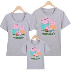 Áo thun gia đình – áo thun bé gái -áo thun bé trai in hình pepa pig Gia Đình Là Số 1 M6 Thương hiệu YANGTZE