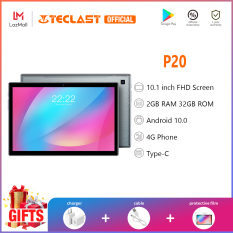 Máy tính bảng Teclast P20 chính hãng, Màn hình IPS 10.1 inch, 2GB RAM 32GB ROM, điện thoại di động 4G, Sim kép, phim intalled, Android 10, camera kép TYPE-C 1 năm bảo hành