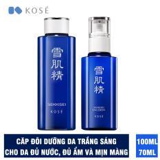 Bộ đôi làm trắng sáng da, cho da đủ nước đủ ẩm Kosé Sekkisei Lotion 100ml và Sekkisei Emulsion 70ml