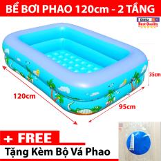 Bể Bơi Cho Bé 2 Tầng 1M20 LOẠI DÀY- Hồ Bơi Trẻ Em – TẶNG Kèm Bộ Vá Phao Tiện Lợi