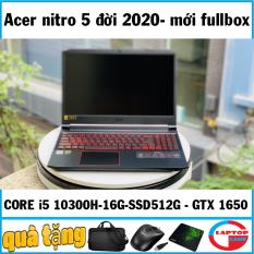 (máy mới fullbox bảo hành 12 tháng ) Laptop Acer Nitro 5 2020 (Core i5-10300H/8GB/SSD256G/VGA 4GB GTX1650/15.6 FHD IPS /Win 10/ĐEN)