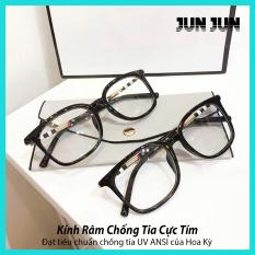 Bảo hành 12 tháng – Mắt kính giả cận cao cấp gọng dẻo dành cho cả nam và nữ JJBBR8046 – Gọng kính cận không độ Hàn Quốc – Tặng kèm hộp + Khăn Lau