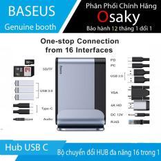 Bộ chuyển đổi HUB đa năng loại 16 trong 1 – Baseus Type C USB Hub Đa Năng, Bộ Chuyển Đổi Hub USB C