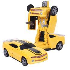Ô tô biến hình thành rô bốt Đồ chơi trẻ em Robot Transformer xe chạy 3 pin AA có nhạc và đèn