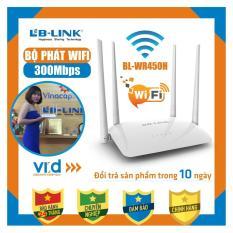 Bộ phát sóng wifi 4 râu cực mạnh LB-LINK BL-WR450H – Hàng bảo hành 24 tháng