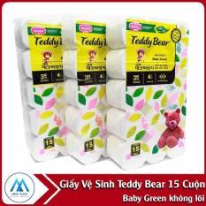 Giấy Vệ Sinh TEDDY BEAR 15 Cuộn Baby Green Không Lõi
