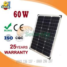 Tấm pin năng lượng mặt trời 60W mono (Tặng Jack MC4)