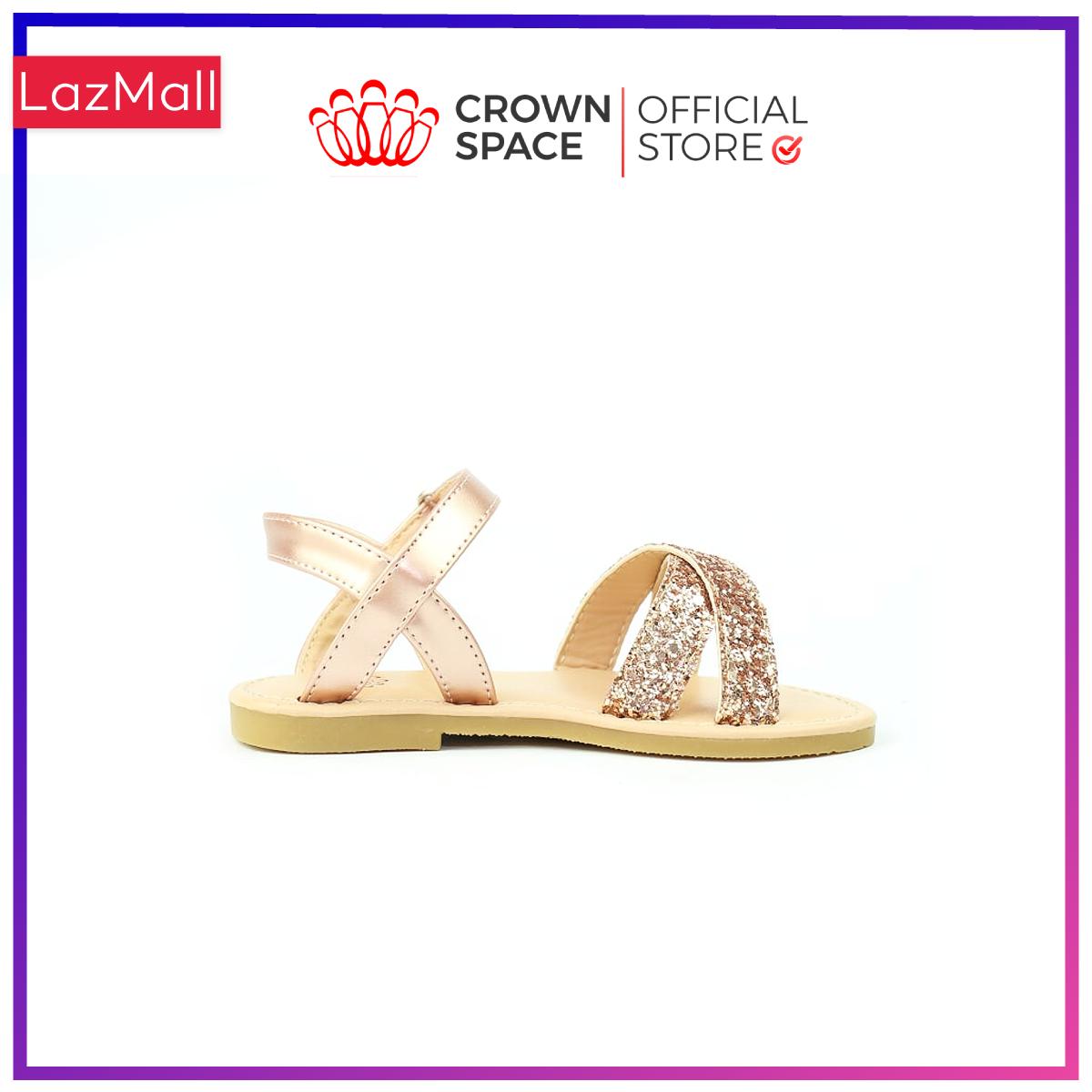 Xăng đan Bé Gái Đi Học Đi Chơi Crown Space UK Sandals Trẻ em Cao Cấp CRUK7010 Nhẹ Êm Thoáng Size 25-34/2-14 Tuổi