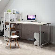 Bàn máy tính bàn học bàn làm việc kèm giá sách gỗ 100cm màu gõ phong chân giá trăngs