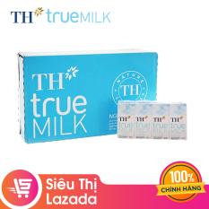 [Siêu thị Lazada]Thùng 48 hộp sữa tươi tiệt trùng nguyên chất TH True Milk (48 hộp x 180ml) dinh dưỡng tự nhiên tốt cho sức khỏe