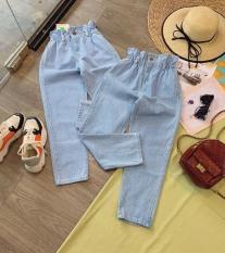 Quần Jeans baggy Ống Rộng Cho Nữ, Quần Bò Quần Denim Nhỏ ỐNg RộNg Cạp Cao Dáng Suông Thời Trang mun's shop t64