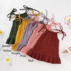 Váy bé gái (yếm đũi) chất liệu vải Đũi cao cấp size 5-19 kg