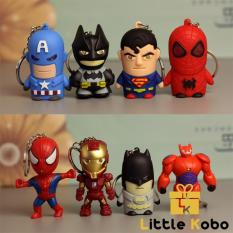 Móc Khóa Iron Man Đèn Led Móc Khóa Captain America Móc Khóa Marvel