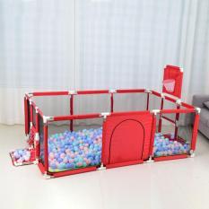 Quây cũi nhà bóng cho bé – Nhà bóng mini cho trẻ em – Đồ chơi nhà bóng sắc màu cho bé ( Kích thước 1m2 x1m8 , Tặng kèm 101 Bóng sắc màu)