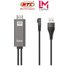Cáp chuyển Lightning sang HDMI Hoco UA14 wire 1080P HD, dài 2M, chân chữ L (Đen) – Nhat Tin Authorised Store