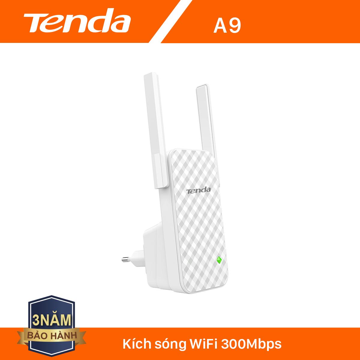 [Nhập ELCLNOV8 giảm thêm 8%] Tenda Bộ kích sóng Wifi A9 Chuẩn N 300Mbps – Hãng phân phối chính thức