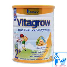 Sữa Bột Vitadairy Vitagrow 2+ Hộp 900g (Tăng chiều cao vượt trội; Cho trẻ 2 tuổi)