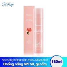 Xịt chống nắng toàn thân JM Solution Sun Spray SPF 50 180ml (Rose)