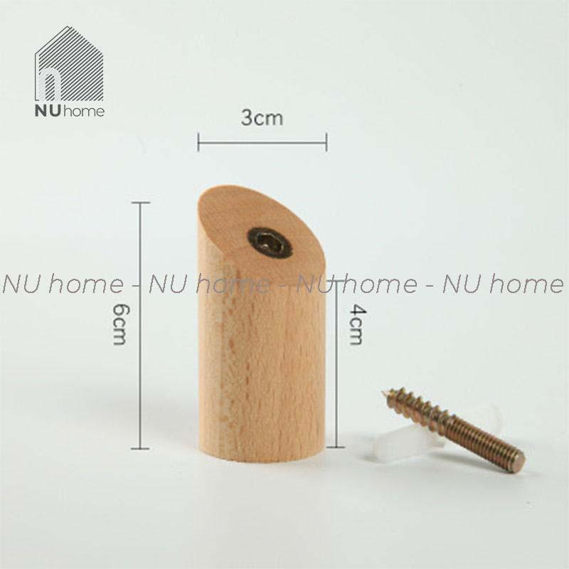 Móc gỗ treo đồ găn tường hình trụ |nuhome.vn| móc thiết kế đơn giản phong cách Scandinavi