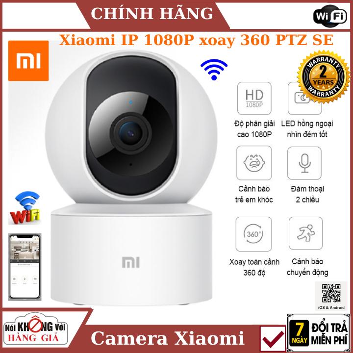 Camera wifi , Camera Xiaomi IP 1080P xoay 360 PTZ SE ,cảm biến cảnh báo chuyển động, đàm thoại 2 chiều , camera mini , camera ip , camera 360