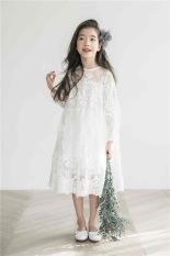 Váy công chúa ren trắng V01 cho bé gái