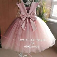 Váy đầm công chúa hồng ruốc xinh xắn – HR-043