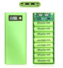 [Mạch Xịn 2.0] – Khung 8 pin sạc dự phòng 30.000mAh dùng pin laptop 18650 (Nhiều màu, chưa pin)