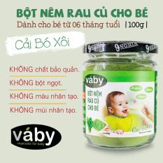 [HCM]Bột nêm rau Cải Bó Xôi & Phô Mai dành cho bé ăn dặm VABY Hủ 100g – Gia vị nêm và rắc dành cho bé từ 6 tháng tuổi