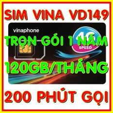 Sim 4G Vinaphone VD149 trọn gói 1 năm có 4GB/ngày (120GB/tháng) tốc độ cao 4G + 200 phút gọi ngoại mạng + Miễn phí gọi nội mạng Vinaphone gói VD149 – Giống như sim 4G Vinaphone VD89P (VD89 Plus) – Shop Sim G