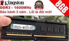 Ram máy tính để bàn Kingston DDR3 – 8GB – Buss 1600 ,Bảo hành 36 tháng lỗi được đổi mới 100%