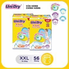 [Freeship][Voucher đến 40K] Combo 2 tã quần Unidry Siêu khô thoáng gói Super Jumbo size XXL (56 miếng)