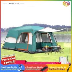 Lều cắm trại lều bạt lều vải cỡ lớn 8-10 người chống nước chống gió không gian lớn như phòng khách lều picnic cắm trại công viên camry