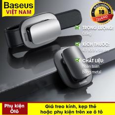 Giá treo kính, kẹp thẻ hoặc phụ kiện trên xe ô tô Baseus Platinum Vehicle Eyewear Clip (Clamping Type / Paste Type)