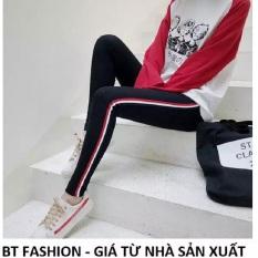 [HCM]Quần Dài Nữ Thun Ôm Legging Thể Thao Thời Trang Hàn Quốc – BT Fashion (QTT-Viền 3M-05)