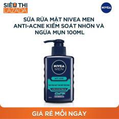 [Siêu thị Lazada] – Sữa rửa mặt Nivea Men Anti-Acne Kiểm soát nhờn và Ngừa mụn 100ml