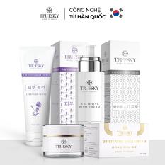 Bộ Truesky VIP05 gồm 1 kem dưỡng trắng da mặt & 1 kem ủ trắng toàn thân & 1 kem body dưỡng trắng Lavender