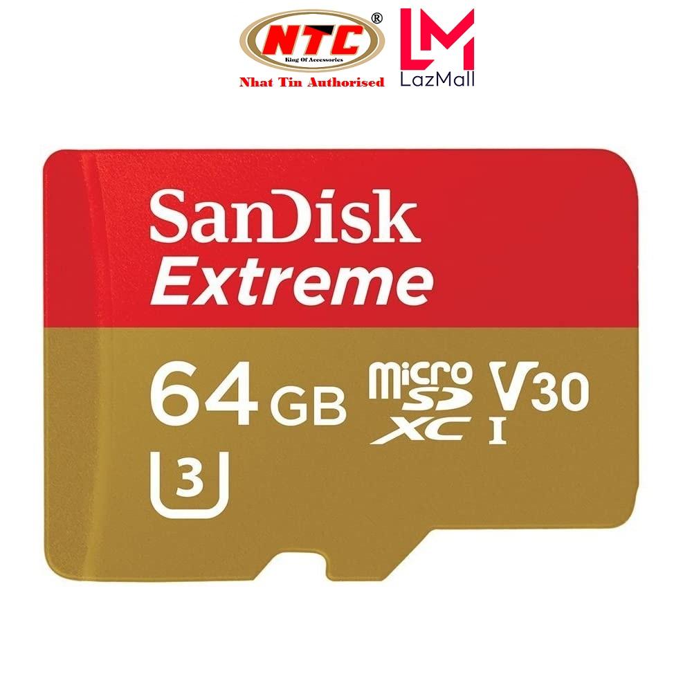 Thẻ nhớ MicroSDXC SanDisk Extreme 64GB U3 4K V30 R90MB/s W60MB/s - Không Box (Vàng) - Nhat Tin Authorised Store