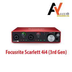 Sound card thu âm chuyên nghiệp Focusrite Scarlett 4i4 (3rd gen)