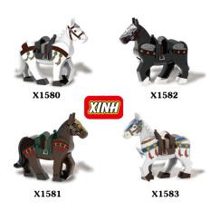 Minifigures nhân vật Ngựa chiến Trung Cổ X1580-1583