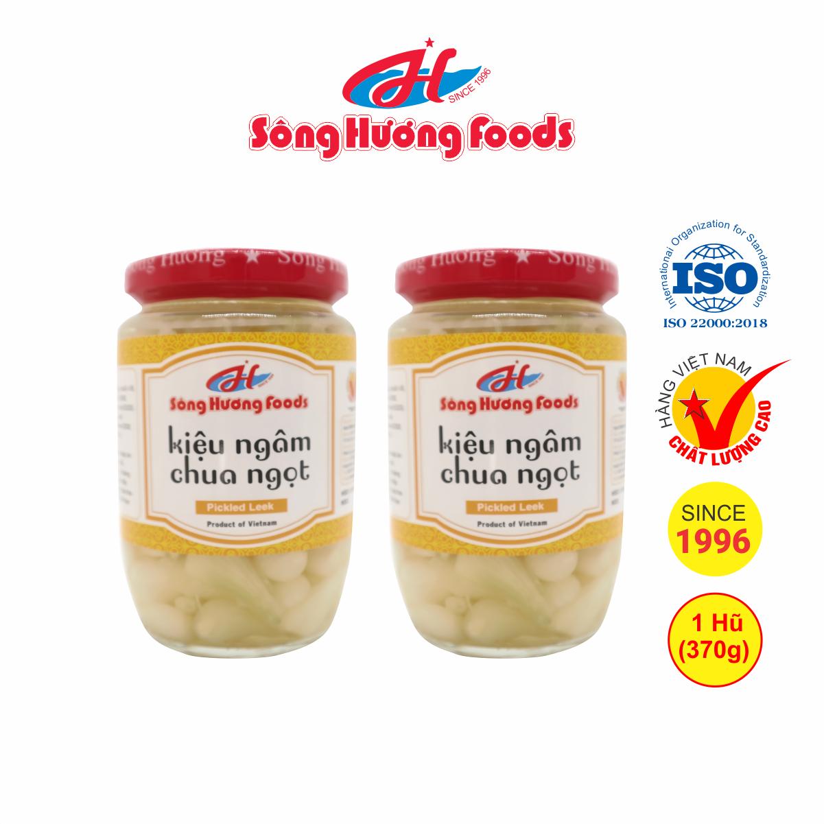 2 Hũ củ kiệu ngâm chua ngọt Sông Hương Foods hũ 370g