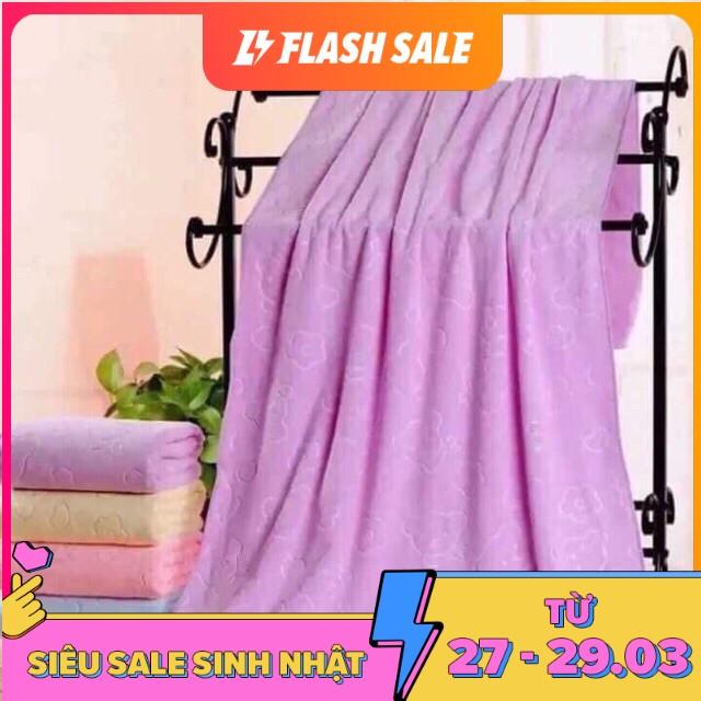 Khăn tắm xuất nhật cao cấp, mền, mịn, thấm nước tốt ( kích thước 140cm*70cm ) khăn tắm người lớn...
