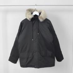 Áo khoác Parka Polar, JACK LANE, áo jackets nam nữ Unisex Jack Lane dài tay nhiều lớp form rộng có mũ lông dày ấm