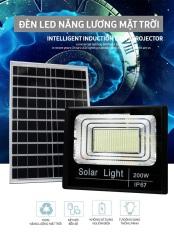 Đèn Led Pha Năng Lượng Mặt Trời Solar Light 200W- 400 Chip Led, Ánh Sáng Trắng