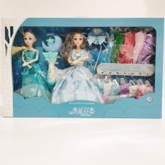 [Hàng đẹp] Bộ đồ chơi búp bê băng giá cùng nhiều bộ váy xinh xắn cho bé gái