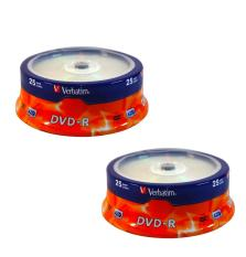 50 Cái Đĩa trắng DVD VERBATIM 1 Hộp 25 CÁI 4.7G full BOX ( 2 hộp full box )