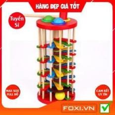 Bộ đồ chơi đập bóng lốc xoáy-thang lăn bóng nhiều màu cao cấp-giúp phát triển tư duy trí tuệ cao cho bé