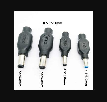 [Nhập ELJAN11 giảm 10%, tối đa 200k, đơn từ 99k]Combo 4 đầu sạc Dell HP kim Lớn và kim nhỏ – Dùng cho máy cấp nguồn