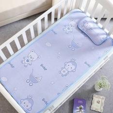 Bộ chiếu kèm gối lụa điều hòa cho bé được làm từ sợi mây lụa tổng hợp, siêu mềm mịn, an toàn cho trẻ