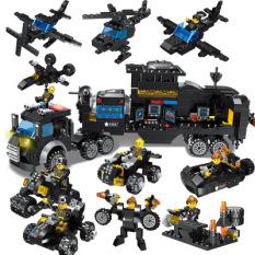 Đồ chơi lắp ráp Lego Giá Re Lego robot đoàn tàu máy bay biệt đội police-662-chi-tiết-HIEUCLOCK